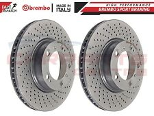 FOR PORSCHE BOXSTER 986 987 FRONT DRILLED BRAKE DISCS DISCS PAIR BREMBO SPORTS
