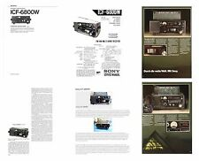 SONY ICF-6800W PHOTOCOPY INSTRUCTION + SERVICE MANUALS + COLOR AD + REVIEWS