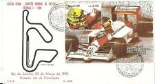 BRAZIL 1989 Ayrton Senna; Formula 1 Auto Racing on K.Filet FDC