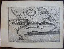 VUE DE LA VILLE DE CALAIS. gravure originale de 1728, dimensions : 145 mm X 185