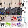 With Microphone 3.5mm Bass Stereo In-Ear Earphones Headphones Headset Earbuds FT