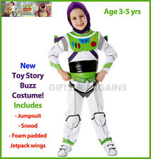 TOY STORY BUZZ LIGHTYEAR Boys Costume Deluxe Child Space Ranger Halloween 5-6y
