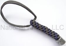 Zero Tolerance Knife Lanyard - Pewter Bead, Gray & Blue Cord - ZT Knives Dealer