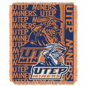 Northwest Company Texas El Paso Official College UTEP Miners Play Woven Throw