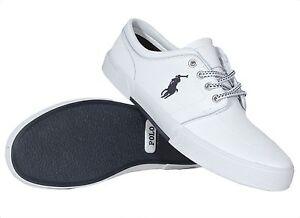 Polo Ralph Lauren Men's Leather Shoes Faxon Low White 816527220002 Medium (D, M)