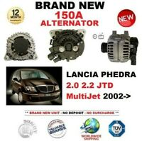 FOR LANCIA PHEDRA 2.0 2.2 JTD MultiJet 2002-> ALTERNATOR 150A with CLUTCH PULLEY