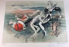 Grande Lithographie 168/190 par Françoise Muller - Lesbiennes & Marine - Rare
