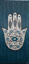 Bamboo Beaded Curtain , Hamsa