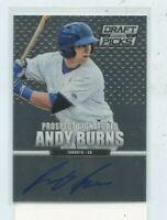 ANDY BURNS 2013 Panini Prizm Draft Picks Auto Autograph #87