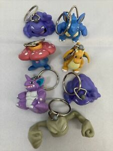 Vintage Pokémon Burger King Toys LOT Of 7 Collectible Keychain Figurines 1999
