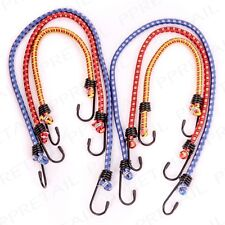 PACK OF 6 BUNGEE CORDS & METAL HOOKS 30/45/60cm Camping/Hiking Luggage Straps