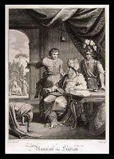 1794 Engraved Print - Haaman the Syrian - Jewish Bible