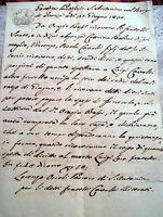 1830 RARO DOCUMENTO MANOSCRITTO DEL BORGO DI FAENZA SU UN OMICIDIO