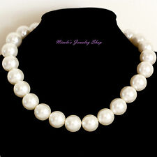 14mm Classic Elegant Faux Pearl Necklace Chain