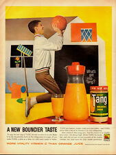 1961 Vintage ad for Tang breakfast drink~Guy playing basket ball (082313)