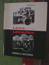 Vintage LEICA and LEICAFLEX Cameras & Accessories CATALOG No. 38 Jan 1 1965