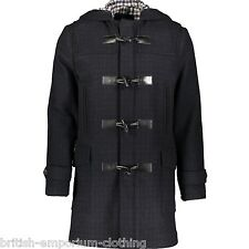 AQUASCUTUM Black Check Hooded Duffle Coat BNWT IT48 / UK38 Made In Italy
