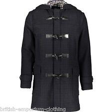 Aquascutum carreaux noirs à capuche duffle-coat bnwt IT48/UK38 made in italy