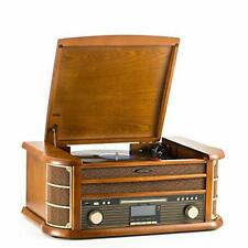 Shuman Vintage 8-in-1 Wireless Music Centre with Remote Control, DAB Digital/FM