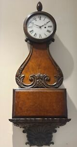 """RARE Antique 1920's Early HERMAN MILLER Large Ornate Carved 39"""" Wall Clock USA"""