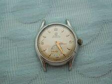 "Vintage ""Cyma Watersport"" steel screw back officers military style wrist watch"