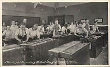 Bury. Municiopal Secondary School. Woodwork Room by Marshall Keene & Co.