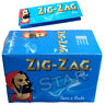 ZIG ZAG BLUE REGULAR SIZE SMOKING ROLLING PAPERS- 1/5/10/25/50/100 BOOKLETS