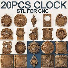 3d stl Model Relief 20 pcs pack for CNC Router Artcam