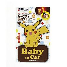Richell Pokemon Car Accessory Baby in car Reclective sticker