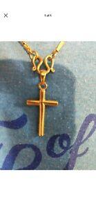 24k Solid Gold Cross 8 Gram Custom
