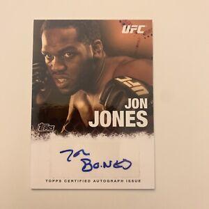 Jon Jones 2010 Topps UFC Autograph Auto Signed Card