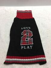 New listing Dog sweater m medium love to play