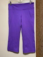 Lululemon Tadasana Slit Crop Pants Lilac Sz 8 Inseam 20 3/4