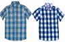 Kids Check Shirts Short Sleeves Plaid Cotton Formal-Casual Shirt Tops,6 to12 yrs
