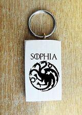 Personnalisée game of thrones mother of dragons daenerys targaryen porte-clés cadeau