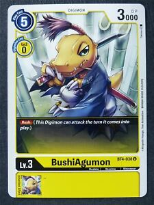 BushiAgumon BT4-038 U - Digimon Cards #Z4