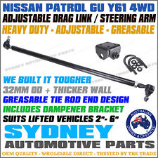 ADJUSTABLE HD Front Drag Link with Tie Rod Ends & Bracket NISSAN PATROL GU Y61