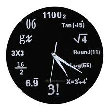 MATH CLASS Wall Clock Chalkboard Mathematics Teacher Classroom Battery Power HOT