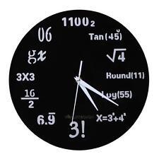 MATH CLASS Algebra Mathematical Formula Wall Clock Acrylic Battery Power Gift
