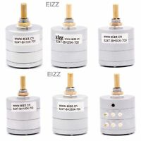 EIZZ 100K 24 step Attenuator Potentiometer for Stereo Two Channel