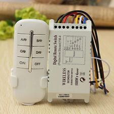 LC_ WIRELESS 4 CANALI ON/Off lamp Remoto Interruttore ricevitore trasmettitore