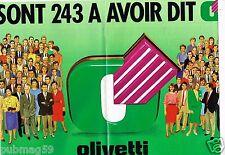 Publicité Advertising 1986 (4 pages) Les Ordinateurs Olivetti