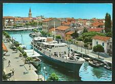Grado ( Gorizia ) : Porto e Canale interno -  cartolina viaggiata nel 1974