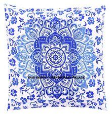 """Ombre Mandala Cotton Linen Cushion Cover Home Decor Throw Pillow Case Indian 16"""""""