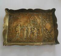 Art Nouveau Brass wall plaque