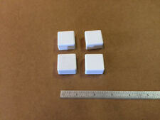 STANDARD 1 INCH SQUARE PLASTIC BOAT END CAP HARDWARE WHITE 4 PACK