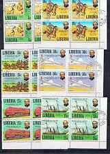 LIBERIA ROWLAND HILL BLOCKS OF FOUR