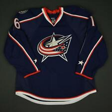 2016-17 Mike Brown Columbus Blue Jackets Game Issued Hockey Jersey MeiGray NHL