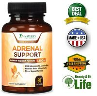 ADRENAL SUPPORT & Cortisol Manager Health Complex 1300mg 60 Capsules Ashwaganda