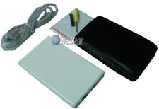 """White USB 1.8"""" Hard Disk Drive HDD ZIF Metal Enclosure Case with Travel Pouch"""